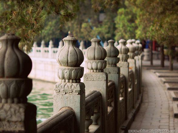 Summer Palace sidewalk by the lake
