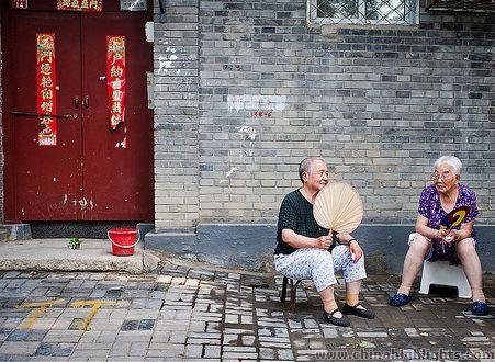 Grannies chatting at Hutong