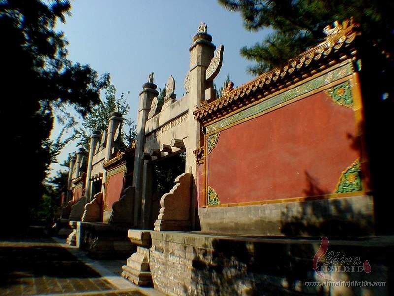 the Ming Tombs (in Beijing)