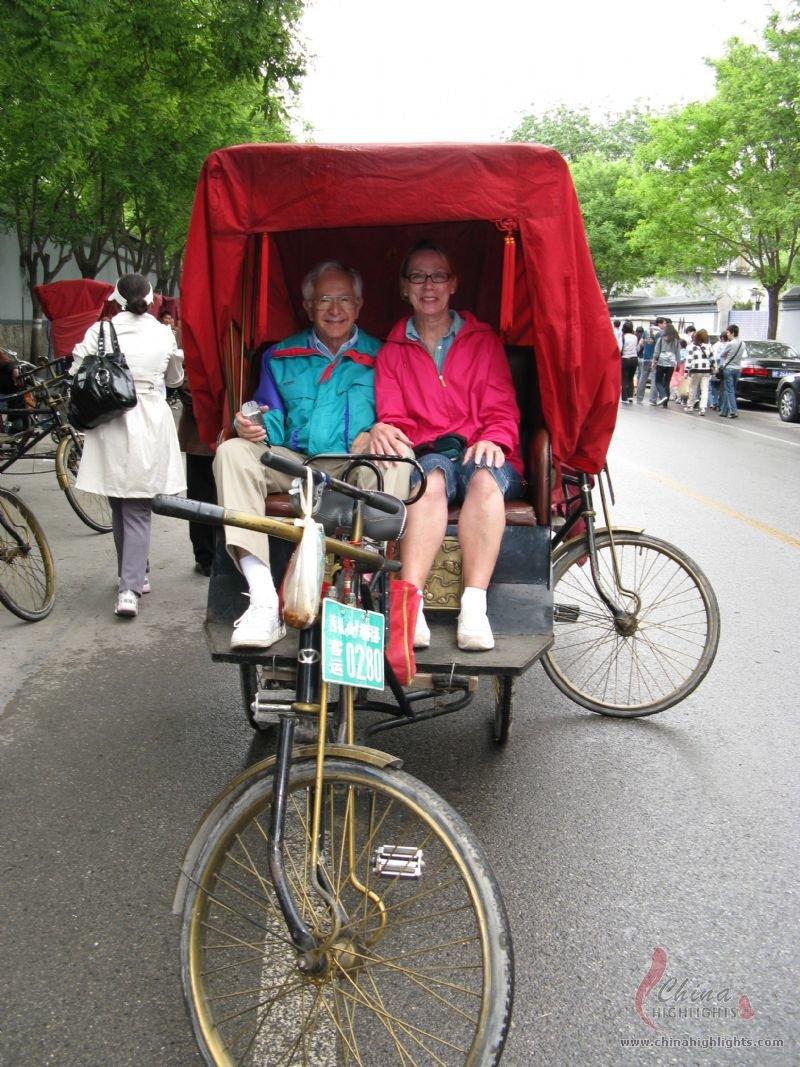 Hutong rickshaw to ride through the narrow alleys